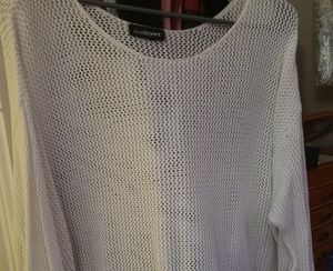 Lane Bryant 3/4 sleeve cotton Netted shirt